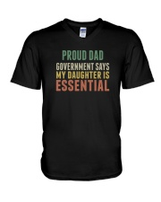 proud dad V-Neck T-Shirt thumbnail