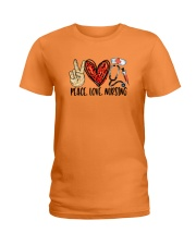 Peace Love Nursing Ladies T-Shirt thumbnail