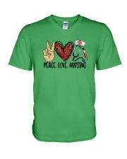Peace Love Nursing V-Neck T-Shirt thumbnail