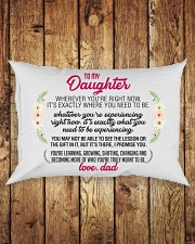 To My Daughter Rectangular Pillowcase aos-pillow-rectangle-front-lifestyle-2
