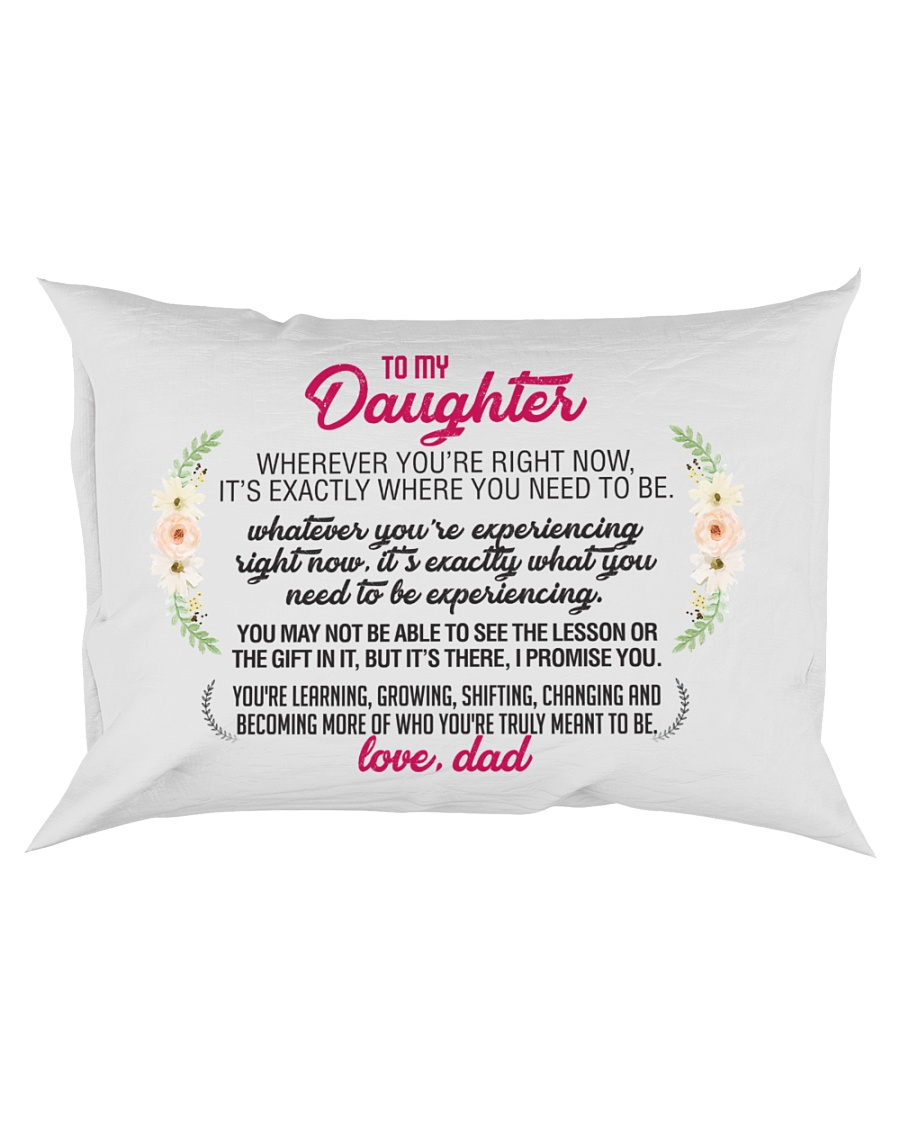 To My Daughter Rectangular Pillowcase