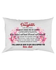 To My Daughter Rectangular Pillowcase front