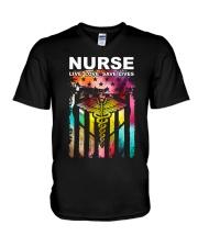 Colorful Flag V-Neck T-Shirt thumbnail