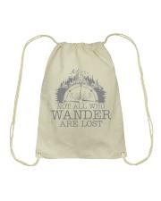 Not All Who Wander Are Lost Drawstring Bag thumbnail