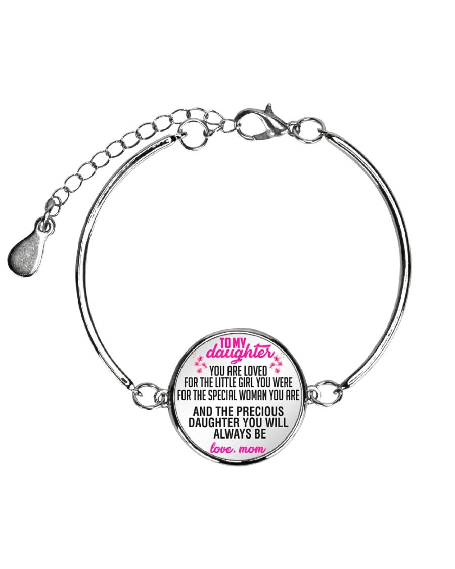 To My Daughter Metallic Circle Bracelet
