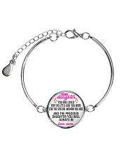To My Daughter Metallic Circle Bracelet front