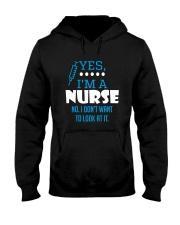 Yes I'm a nurse Hooded Sweatshirt thumbnail
