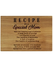 Recipe For A Special Mom Rectangle Cutting Board front