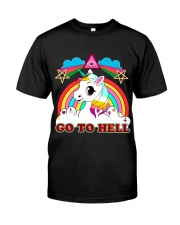 UNICORN - GO TO HELL Classic T-Shirt tile