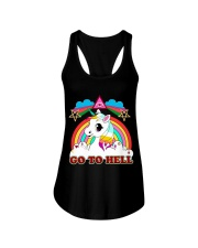 UNICORN - GO TO HELL Ladies Flowy Tank thumbnail
