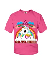 UNICORN - GO TO HELL Youth T-Shirt thumbnail