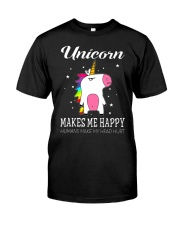UNICORN MAKE ME HAPPY Classic T-Shirt thumbnail