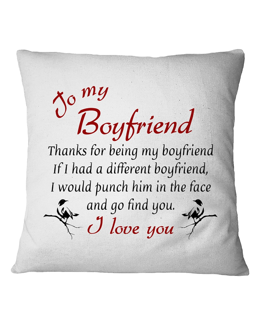 To Boyfriend - I Love You Square Pillowcase