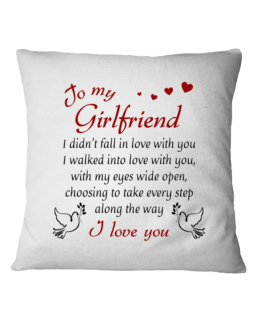 To Girlfriend - I Walked Into Love With You Square Pillowcase