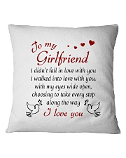 To Girlfriend - I Walked Into Love With You Square Pillowcase front