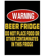warning-beer fridge 11x17 Poster front