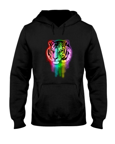 Tiger shirt - Tiger Neon Dripping Rainbow Colors
