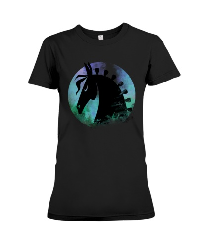 Horse  and amp Moon T Shirt