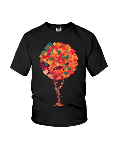 Colorful Square Tree T Shirt