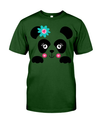 Panda Face with flower accent Shirt