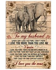 Elephant - To my husband 11x17 Poster front