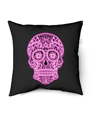 "StyleLadySkullOK Indoor Pillow - 18"" x 18"" thumbnail"