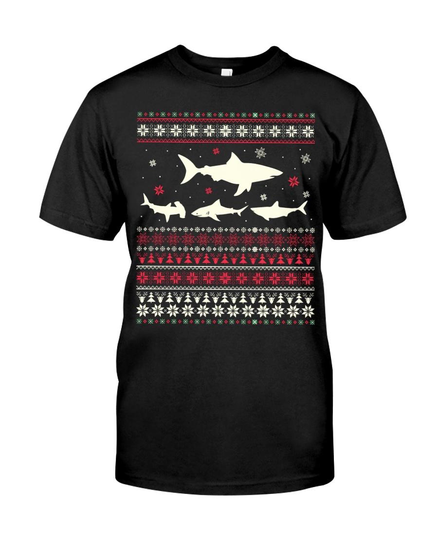 Shark Ugly Sweater Christmas TShirt Classic T-Shirt