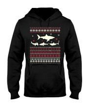 Shark Ugly Sweater Christmas TShirt Hooded Sweatshirt thumbnail