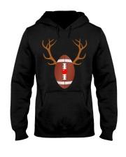 Reindeer Christmas Football T-Shirt Hooded Sweatshirt thumbnail