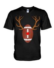 Reindeer Christmas Football T-Shirt V-Neck T-Shirt thumbnail