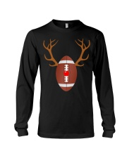 Reindeer Christmas Football T-Shirt Long Sleeve Tee thumbnail
