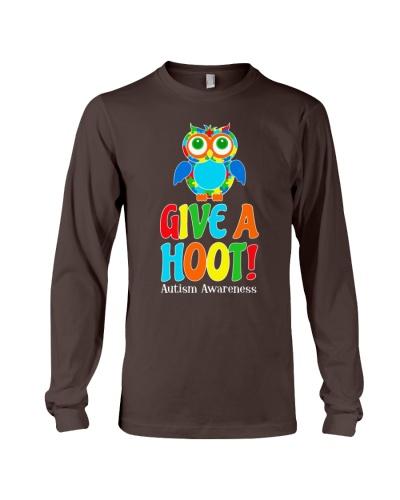 Autism Owl Give A Hoot Awareness T-Shirt