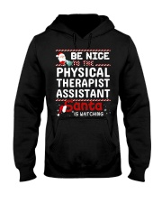 Be Nice To The Physical Therapist Assistant Santa  Hooded Sweatshirt thumbnail