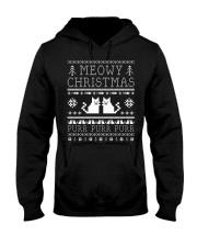 Meowy Christmas Purr Purr TShirt Hooded Sweatshirt thumbnail