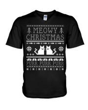 Meowy Christmas Purr Purr TShirt V-Neck T-Shirt thumbnail