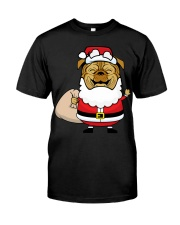 Santaclaus Dog T-shirt Classic T-Shirt front