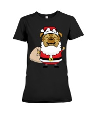 Santaclaus Dog T-shirt Premium Fit Ladies Tee thumbnail