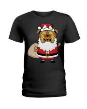 Santaclaus Dog T-shirt Ladies T-Shirt thumbnail