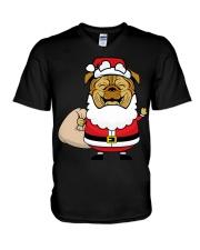 Santaclaus Dog T-shirt V-Neck T-Shirt thumbnail
