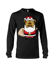 Santaclaus Dog T-shirt Long Sleeve Tee thumbnail