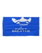 I Can't Breath Help George Floyd Face Mask Cloth face mask front