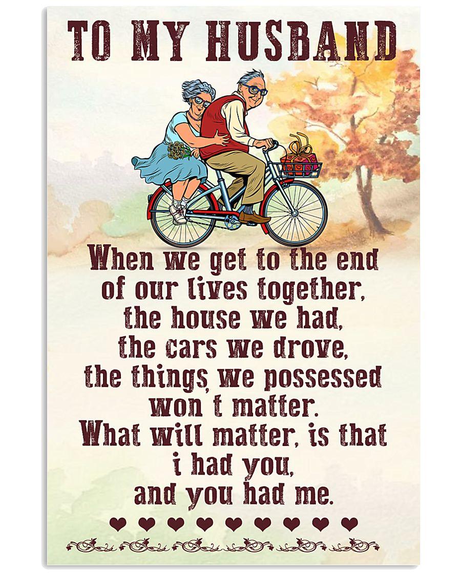 To My husband old bike 11x17 Poster