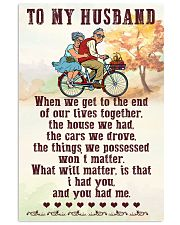 To My husband old bike 11x17 Poster front