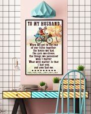 To My husband old bike 11x17 Poster lifestyle-poster-6