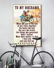 To My husband old bike 11x17 Poster lifestyle-poster-7