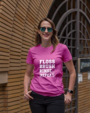 Floss Brush Rinse Repeat Ladies T-Shirt lifestyle-women-crewneck-front-2