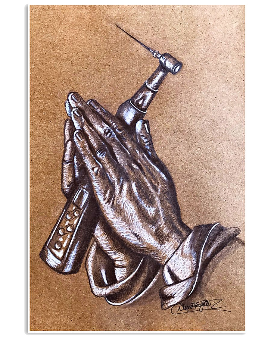 The Praying Hands 11x17 Poster
