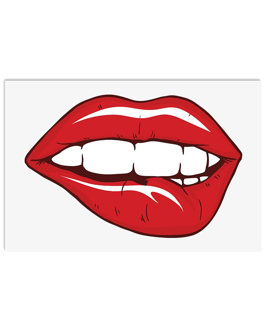 Red Lips 17x11 Poster