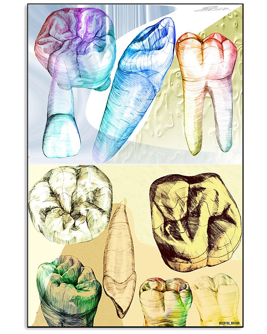 Drawing Teeth 11x17 Poster
