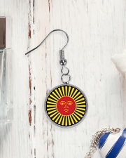 Inca God Of Sun Circle Earrings aos-earring-circle-front-lifestyle-1
